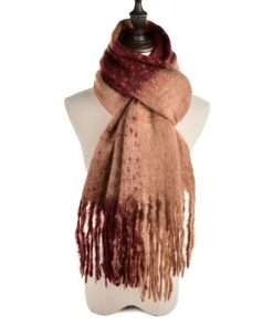 SF965 Red – Women Fashion Scarf With Tassels