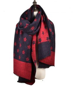 SF966 Red – Oversized Women Floral Scarf