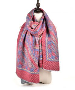 SF968-1RED – Oversized Women Fashion Scarf