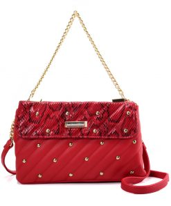 Red Chain Handbag for Women