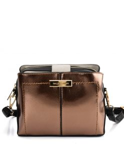 SY2179 GOLD – Simple Solid Color Flash Leather Bag