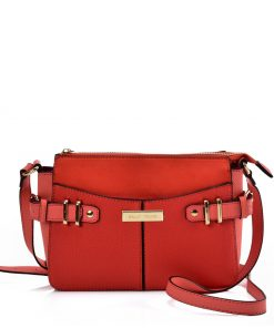 SY2203 ORANGE – Handbag With Buckle Design For Women