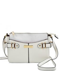 SY2203 WHITE – Handbag With Buckle Design For Women