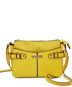 SY2203 YELLOW – Handbag With Buckle Design For Women