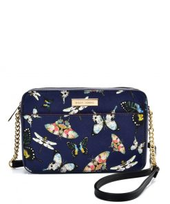 SY2210 BLUE – Chain Bag With Retro Flower Pattern