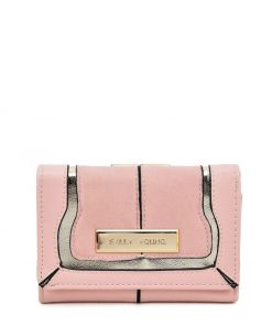 SY5052 Pink – Short Wallet With Geometric Pattern