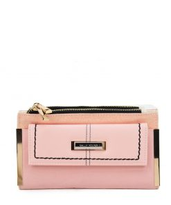 SY5054 Pink – Long Wallet With Flap Design