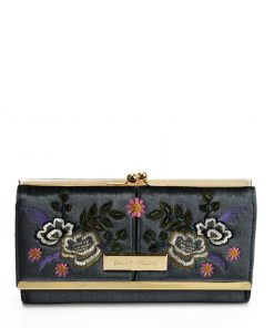 SY5055 GREY – Retro Wallet With Printing Flower Design