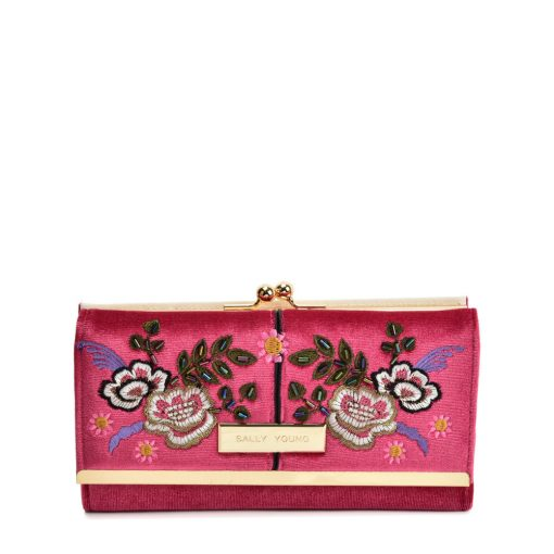 SY5055 DARK RED – Retro Wallet With Printing Flower Design