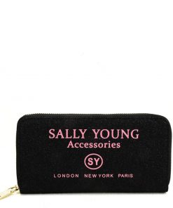 SY5062 BLACK – Long Wallet With Letter Printing