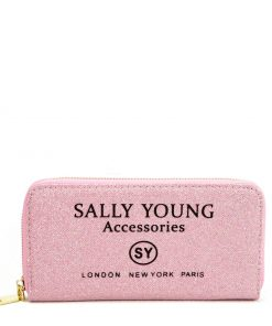 SY5062 PINK – Long Wallet With Letter Printing