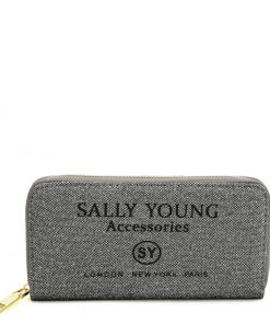 SY5062 SILVER&BLACK – Long Wallet With Letter Printing