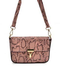 VK2116 PINK – Snakeskin Handbag For Women