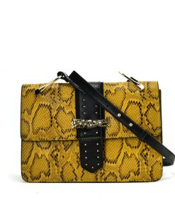 Yellow Snakeskin Bag For Women
