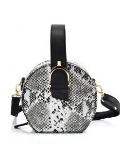 Women Snakeskin Pattern Tote Bag