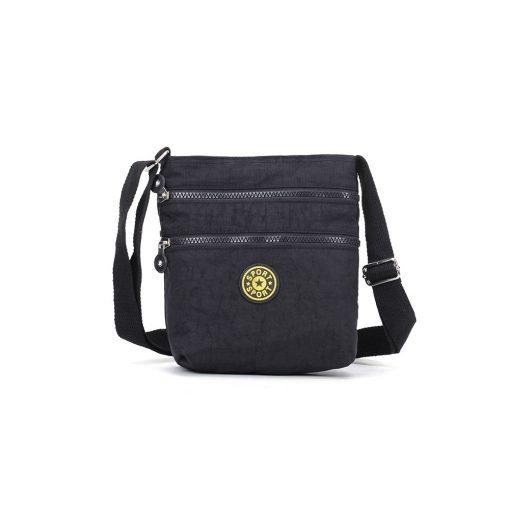 VK5245 Black – Fashion Women Solid Zipper Handbags