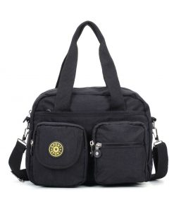 VK5250 Black – Women Large Solid Crossbody Bags