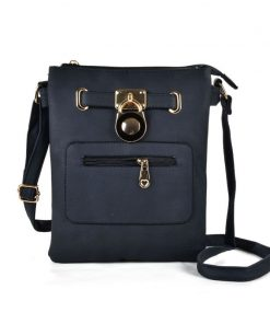 Women Cross Body Bag With Lock Detail