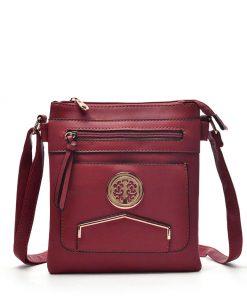 Women Purplish Red Cross Body Bag