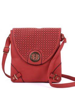 Women Red Flap Cross Body Bag