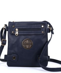Cross Body Bag With Zip Front Detail