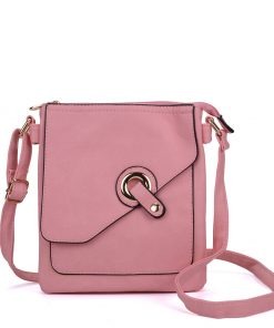 Pink Cross Body Bag With Strap