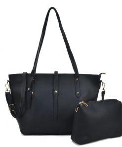 Women Handbag And Set Bag With Dome Studs