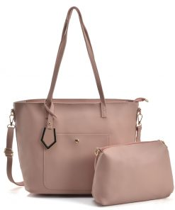 Women Set Handbag With Dome Studs