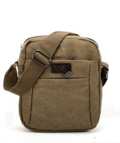 VK5492 Khaki – Sports Cross Body Bag With Multiple Zipper