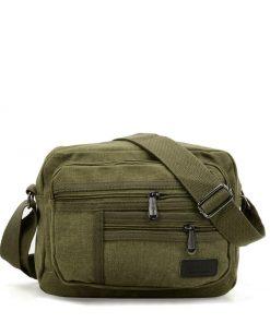 VK5493 Brown – Sports Cross Body Bag With Multiple Zipper