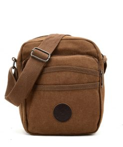 VK5494 Brown – Sports Cross Body Bag With Multiple Pockets