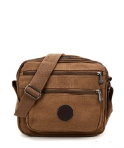 VK5495 Brown – Sports Cross Body Bag With Multiple Zipper