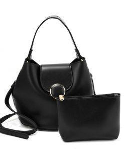 Black Leather Set Bag