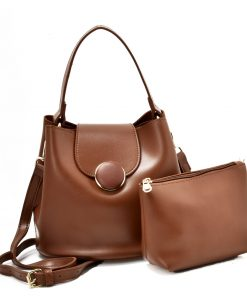 Brown Leather Set Handbag
