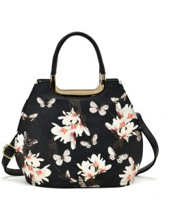 Women Shell Bag With Floral Pattern