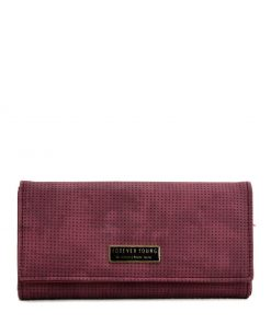 Women Spotted Wallet With Buckle Design