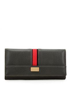 Women Grey Wallet With Buckle