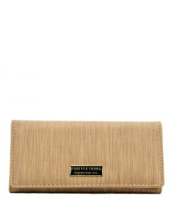 Women Streamlined Wallet With Buckle Design