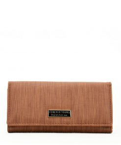 Women Brown Streamlined Wallet