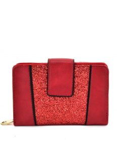 Women Red Wallet With Buckle Design
