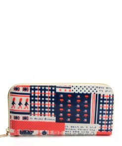 Women Wallet With Printed Decoration