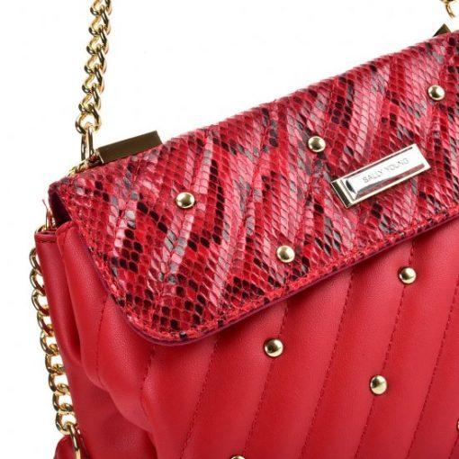 Red Chain Handbag for Women