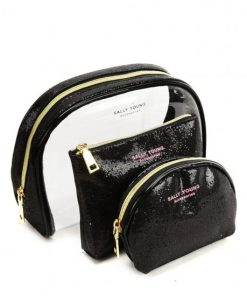 SY2184 BLACK – Transparent Saddle Shaped Set Bags