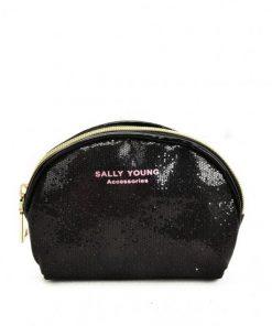 SY2184 BLACK – Transparent Saddle Shaped Set Bags