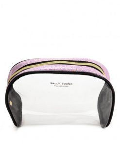SY2184 PINK – Transparent Saddle Shaped Set Bags