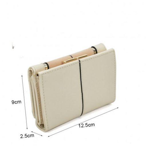 SY5052 Beige – Short Wallet With Geometric Pattern