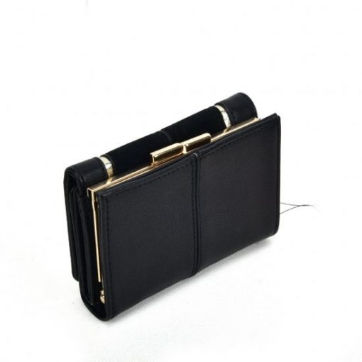 SY5052 Black – Short Wallet With Geometric Pattern