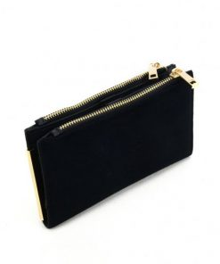 SY5054 Black – Long Wallet With Flap Design