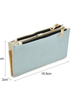 SY5054 Blue – Long Wallet With Flap Design