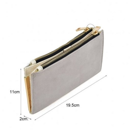 SY5054 Grey – Long Wallet With Flap Design